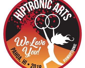 """Special Edition Sticker: """"We Lava You!"""" Hiptronic Arts"""