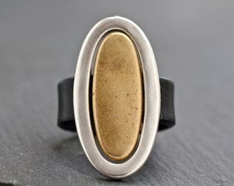 Leather Band , Leather Ring , Big Ring  , Hipster Ring , Cool Jewelry , Modern Ring , Silver Ring , Hip Jewelry , Amy Fine Design