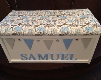 Personalised Toy Box, Wooden Box, Toy Chest. Living Room Storage. Boys Toy