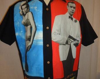 James Bond Goldfinger Men's shirt, Choose your size up to 6X