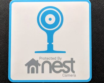 Protected by Nest Cam sticker (outdoor or indoor)
