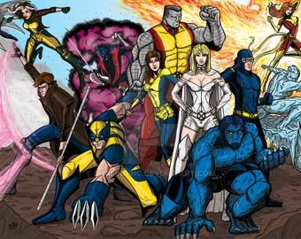 Marvel's X-Men print