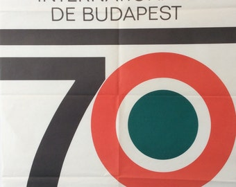 Budapest International Fair poster, 1970