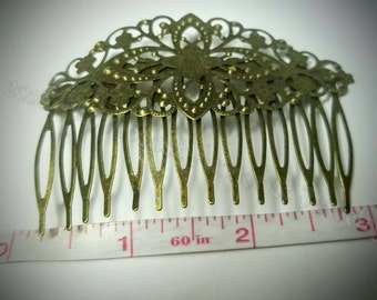 Brass Hair Combs