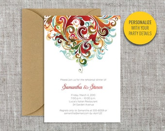 Swirl invitations