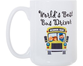 World's Best Bus Driver Large Double-Sided Full Color Coffee Mug
