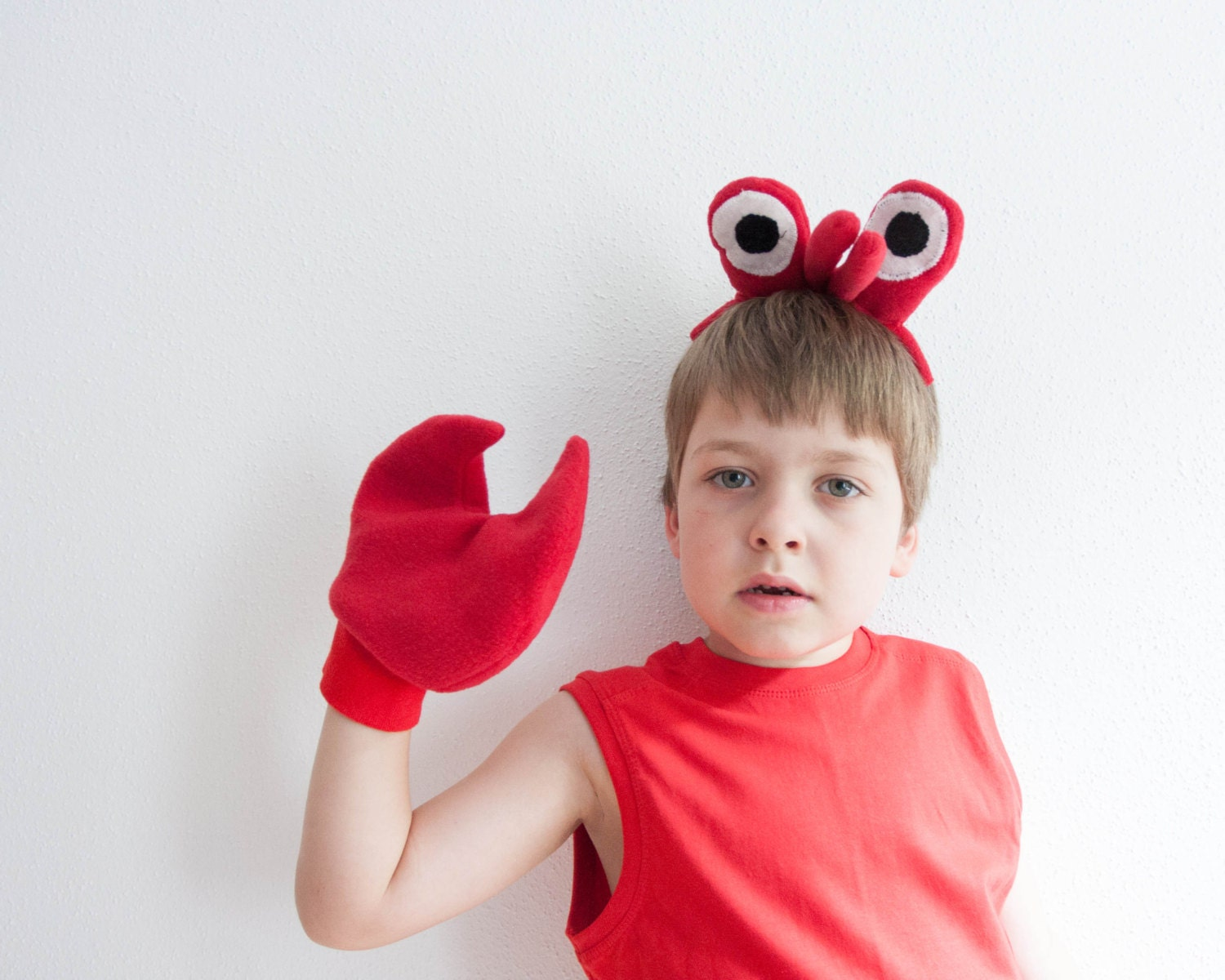 crab eyes headband and crab claws children s or