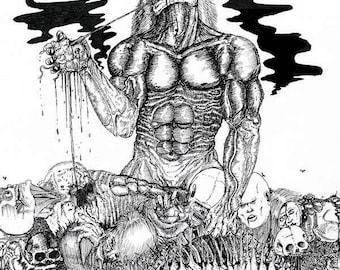 Horror Ink (Heart) Postcard