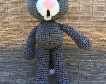 Clark the cat amigurumi crochet pattern