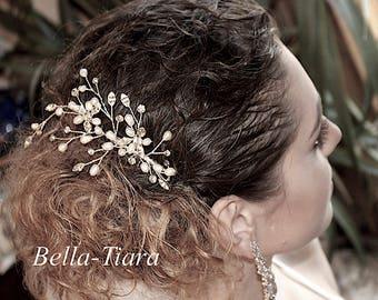 pearl wedding comb, pearl bridal comb, crystal pearl wedding comb, wedding side comb, pearl comb