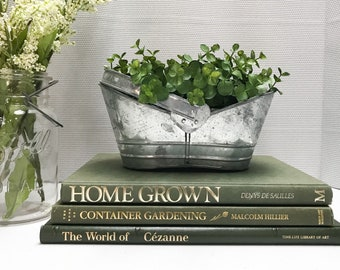Green Coffee Table Books, Large Book Set, Coffee Table Decor, Shelf Decor