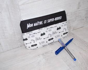Gift teacher gift teacher - message Kit - Kit super hero