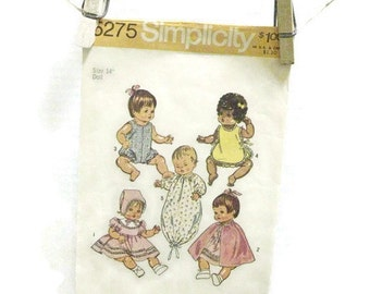 Vintage Simplicity Doll Clothes Pattern | Baby Doll Wardrobe Pattern