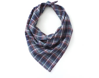 Plaid Bandana Square Scarf 20""