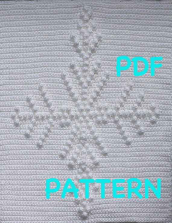 Snowflake Baby Blanket Pattern - Crochet Pattern - Crochet Baby Blanket  - Baby Snuggle Blanket  - Car Seat or Stroller Blanket