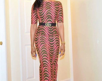 African prom dress/Ankara fabric/african fashion/2018 style/african dress