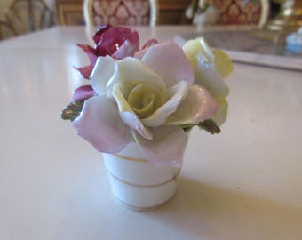 ENGLAND CROWN STAFFORDSHIRE Rose Bouquet