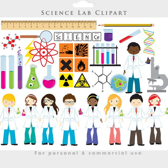 science clipart chemistry lab clip art test tubes scientists rh etsy com science lab coat clipart science lab tools clipart