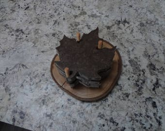 Maple Leaf Coasters made from Corian