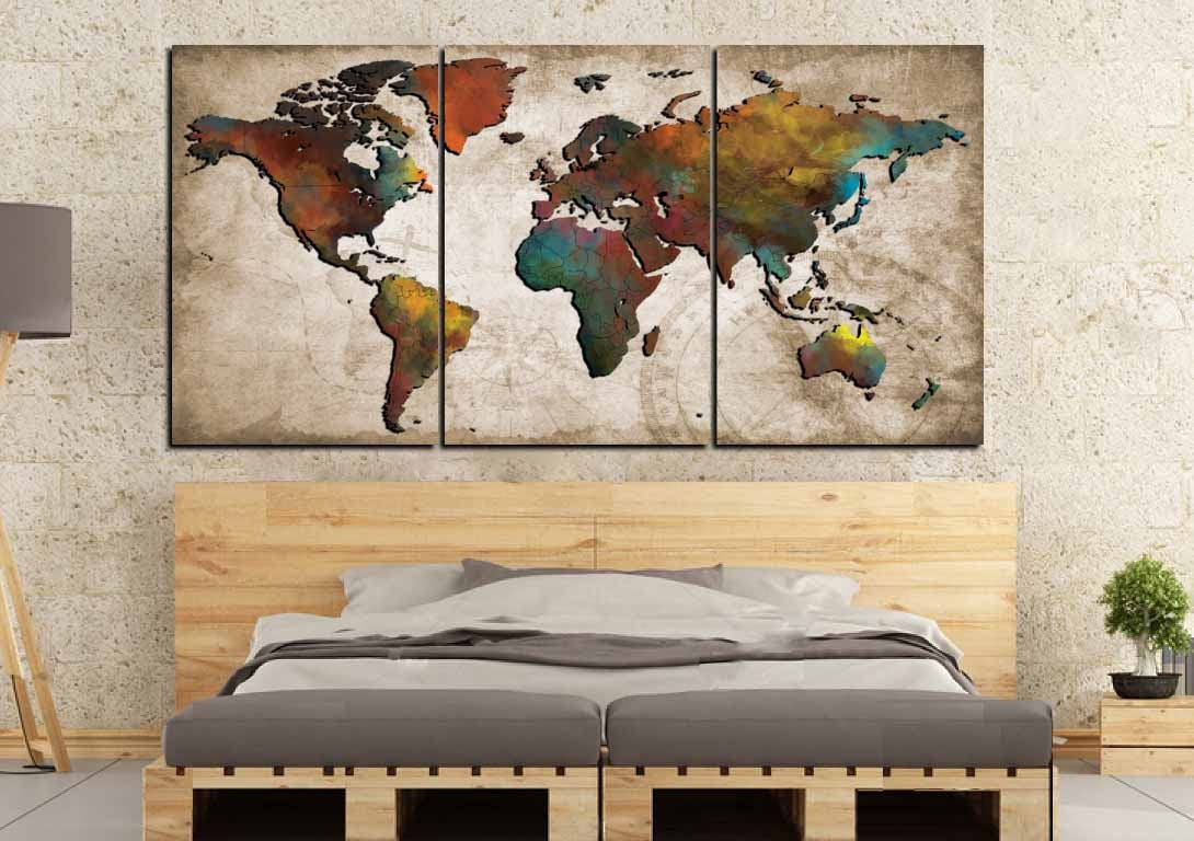 World map wall artabstract push pin mapcolorful world mapworld world map wall artabstract push pin mapcolorful world mapworld map poster world map artworld map canvastravel maptravel map posterart gumiabroncs Image collections