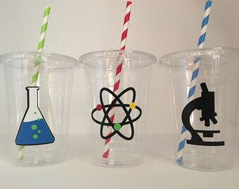 Scientist Party Cups, Mad Scientist Party cups, Science Party Cups, Scientist Birthday Party Cups, Scientist baby Shower