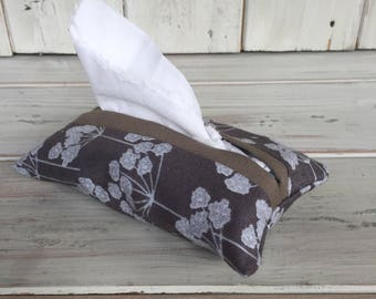 Fabric Tissue Holder, Fabric Tissue Pouch, Pocket Tissue Holder, Travel Tissue Holder, Wedding Favour, Handbag Tissue Holder