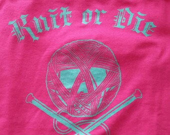 Knit or Die T-shirt (Pink)