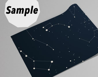 Constellation Wallpaper Sample 8 inches (21cm) high x 8 inches (21cm)