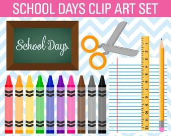 80% OFF SALE School Clipart, Teacher Clipart, Crayon Clipart, Chalkboard Clipart, Teacher Clip Art, School Clip Art, Pencil Clipart