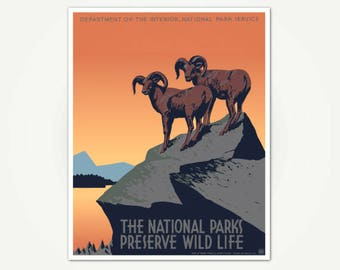 The National Parks Preserve Wild Life Poster Print - Vintage National Parks Poster Art