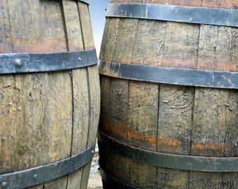 Plastic placemat wine barrels