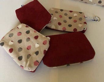 Cherry and Red patterns make up bag