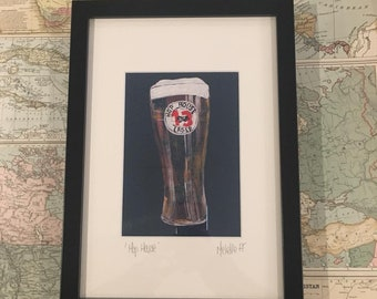 Hop House | Acyrlic Painting Print | Irish Craft Beer