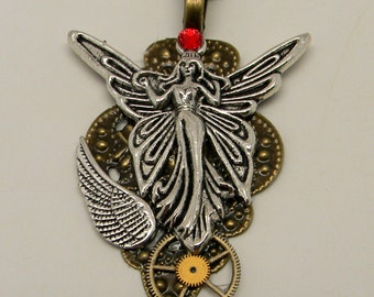 Steampunk jewelry fairy necklace pendant