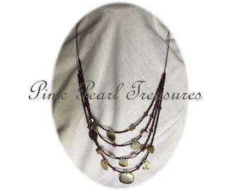 She Sells Seashells multi strand necklace