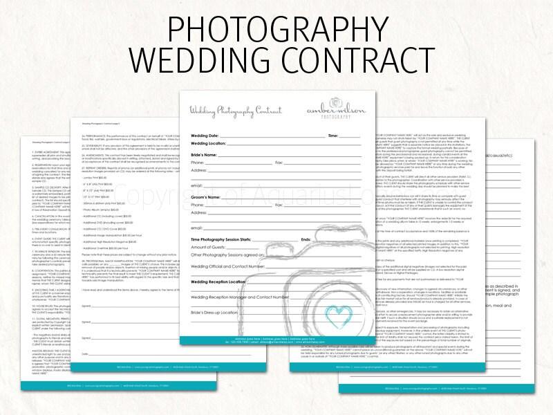 wedding photo contract