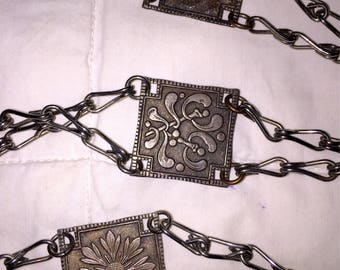 SALE Art Nouveau Revival Silver Chain Belt Vintage Belt Great for Regular Wear and Costumes Too 46 Inches Long!