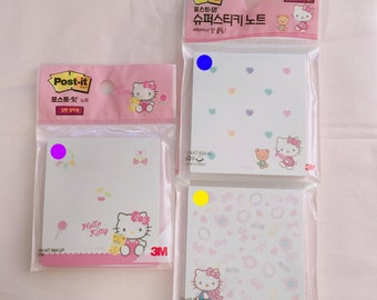 3M Hello Kitty sticky note study planner with this notepad