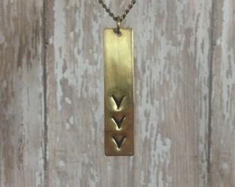 Long Arrow Necklace