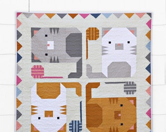 Kitten Around Quilt Pattern by Pen and Paper Patterns (PAPER PATTERN)