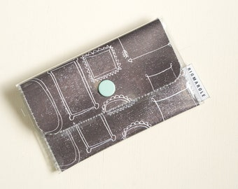 Black Picture Frame   - Business Card Wallet