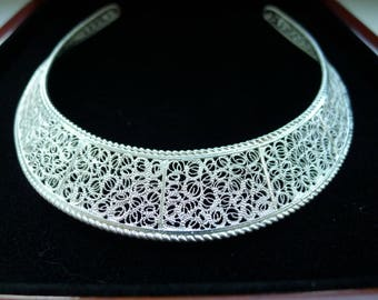 2018 Must-Have Stylish and Exquisite 925 Silver Adjustable Collar, Handmade