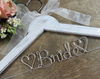 Bridal Hangers - Wedding Dress Hangers - Bridal Accessories - Bride Coat Hangers - Bride Gift Ideas - Dress Hangers - Wire Hangers - Bride