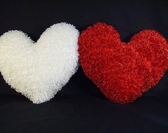 "Fuzzy 18"" Valentine Heart Shaped Pillow"