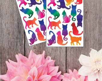 2 Pack- Ombre Cat Stickers