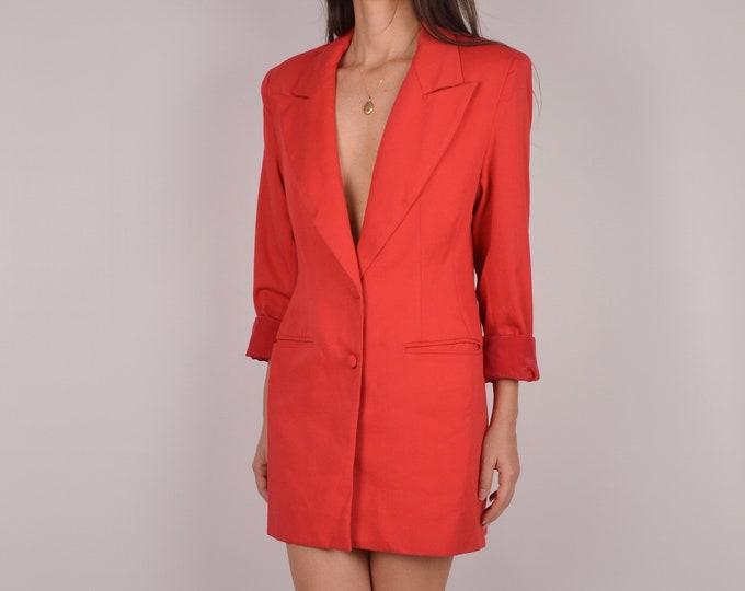 Vintage Long Blazer / Mini Dress / S-M