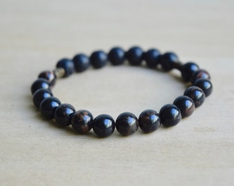 Obsidian Bracelet / protective gemstones, grounding jewelry, mom gift from son, protection bracelet, group 13, group 14, group 15, group 16