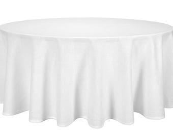 Linen Tablecloth | Business Tablecloth | Linen | Table Cover | Round Tablecloth | White Tablecloth | Table Linens | Natural Flax Tablecloth