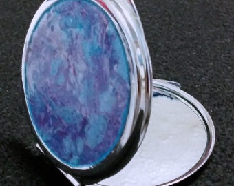 AK. Mirror compact, acrylic skin accessories, gift for her, pocketbook, makeup mirror, Free Shipping