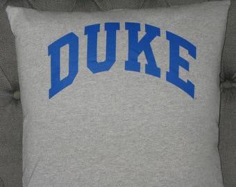 Handmade Duke University T Shirt Throw Pillow